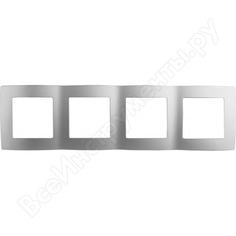 Рамка эра 12-5004-03 на 4 поста, алюминий б0014773