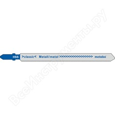 Пилки по стали и цветным металлам t318a (106х1.2мм, hss, 25 шт.) metabo 623623000