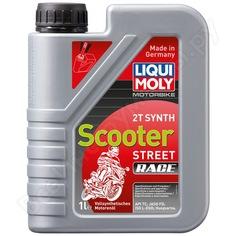 Синтетическое моторное масло для скутеров 1л liqui moly motorbike 2t synth scooter street race 1053