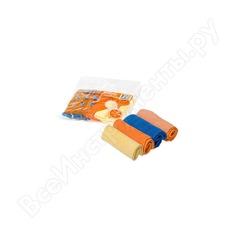 Набор салфеток из микрофибры (рулончики, 4шт, 20х20 см) airline ab-v-02