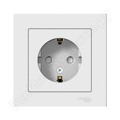 Розетка schneider electric atlas design с заземлением, защитные шторки, 16а, в сборе, белая atn000144 1240147