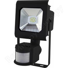 Светодиодный прожектор эра lpr-10-2700к-м-sen smd pro б0028651