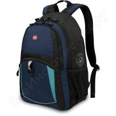 Рюкзак wenger синий/черный/бирюзовый 3191203408