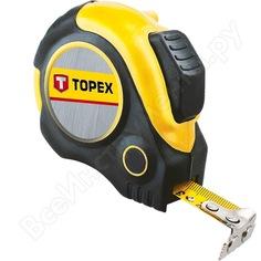 Рулетка topex со стальной лентой и магнитом 5мx25мм 27c365