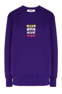 Фиолетовый свитшот с логотипами Msgm