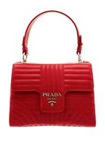 Компактная красная сумка Diagramme Prada