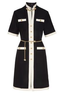 Черно-белое платье с декором Gucci
