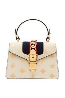 Мини-сумка Sylvie Bee Star Gucci