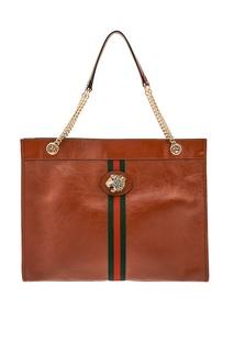 Коричневая сумка-тоут Rajah Gucci