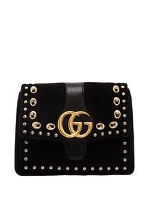 Черная сумка на плечо с заклепками Arli Gucci