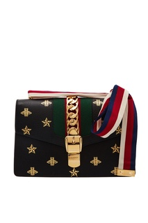 Черная сумка-кроссбоди Sylvie Bee Star Gucci
