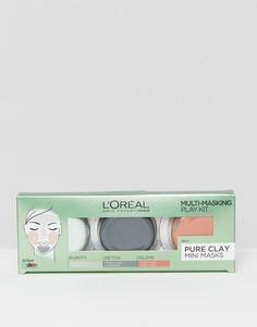 Набор глиняных масок для лица LOreal Paris - Бесцветный LOreal