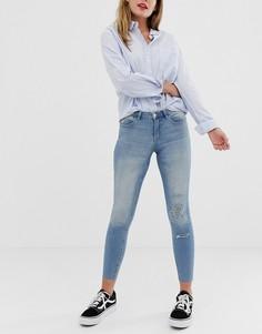 Рваные джинсы скинни JDY Flora - Синий