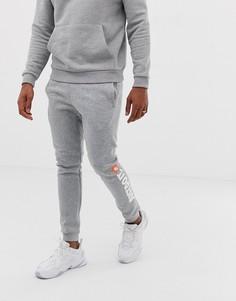 Серые флисовые джоггеры Nike Just Do It - Серый