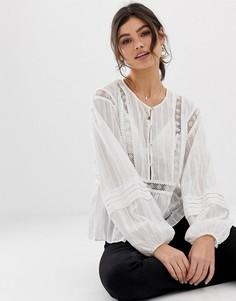 Блузка с вышивкой Stevie May The Master - Кремовый