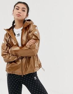 Ветровка бронзового цвета adidas Training - Коричневый