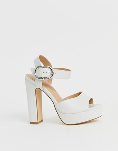 Босоножки на каблуке и платформе Truffle Collection - Белый