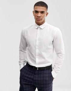Облегающая льняная рубашка Selected Homme - Белый