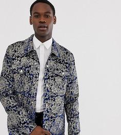 Темно-синяя бархатная куртка в стиле вестерн с отделкой пайетками ASOS DESIGN - Темно-синий