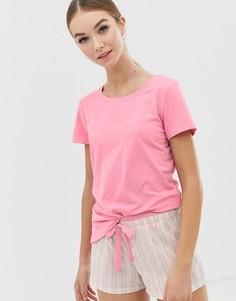 Пижамный комплект в сумке Calvin Klein - Розовый