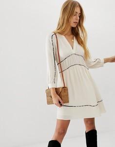 Платье мини с контрастной отделкой BA&SH Franny - Кремовый Ba&;Sh