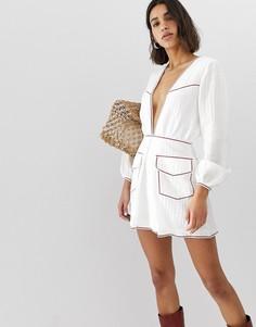 Платье мини Stevie May Portobello - Белый