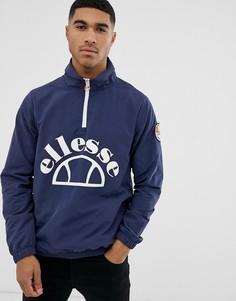 Темно-синяя ветровка с большим логотипом ellesse Junio - Темно-синий