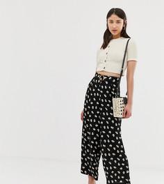 Укороченные брюки с широкими штанинами и цветочным принтом Vero Moda Tall - Мульти