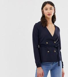 Двубортная блузка с поясом Vero Moda Tall - Темно-синий