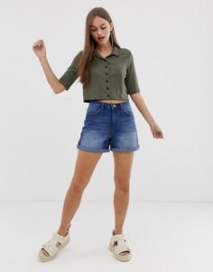 Джинсовые шорты в винтажном стиле Noisy May - Синий