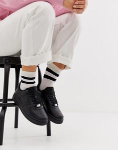 Черные кроссовки Nike Air Force 107 - Черный