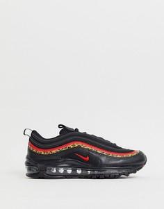 Черные кроссовки с леопардовым принтом Nike Air Max 97 - Мульти