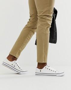 Белые кеды на шнуровке Dunlop - Белый
