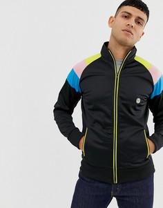 Куртка из политрикотажа на молнии Le Breve - Черный