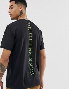 Свободная футболка с надписью на спине ASOS DESIGN - Черный