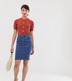 Джинсовая юбка-карандаш с завышенной талией Vero Moda Tall - Синий