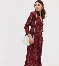 Платье миди с запахом Vero Moda Tall - Темно-синий
