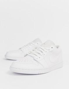 Белые низкие кроссовки Nike Air Jordan 1 - Белый