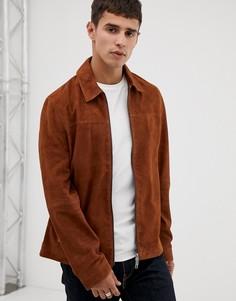 Коричневая замшевая куртка Ted Baker - Коричневый