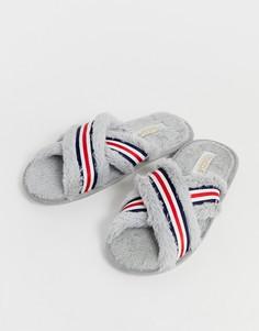Слиперы в полоску Truffle Collection - Серый