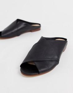 Черные кожаные сандалии с перекрещенными ремешками ALDO Rireviel - Черный