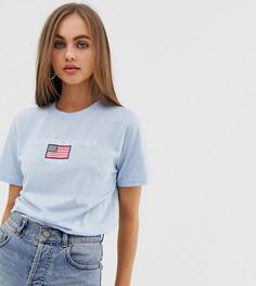 Свободная футболка с вышивкой Los Angeles Daisy Street - Синий