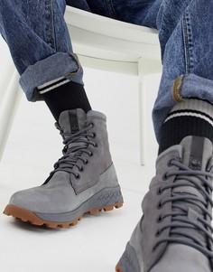 Серые ботинки с молнией сбоку Timberland Brooklyn - Серый
