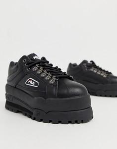 Кроссовки на танкетке Fila Black Trailblazer - Черный