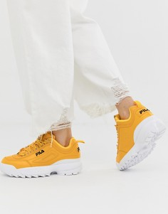 Желтые премиум-кроссовки Fila Disruptor II - Черный