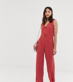 Комбинезон в горошек с ремнем Vero Moda Tall - Красный