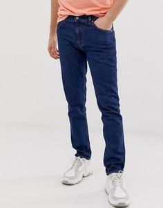 Темно-синие джинсы слим Weekday Alley - Синий