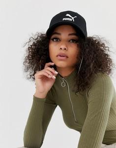Черная кепка с логотипом Puma - Черный