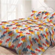 Комплект постельного белья Самойловский текстиль семейный, бязь, Лабиринт (717657)