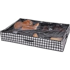 Короб для хранения Handy Home обуви Пепита 4 секции, Д940 Ш600 В150, черно-белый
